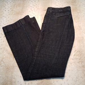 J.Crew Tall Dark Wash Trouser Cut Jeans
